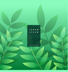 green leaves eco background design vector image