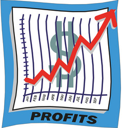 growing graph icon dollar sign vector image