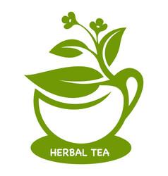 Herbal tea eco product logo vector