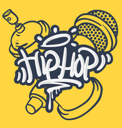 Hip hop lettering custom tag style characters vector