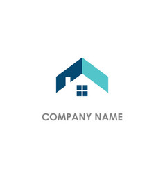 Home realty roof logo vector