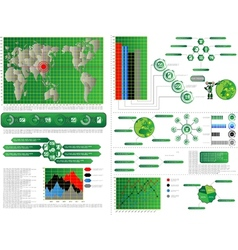 INFOGRAPHIC COMPUTER vector image