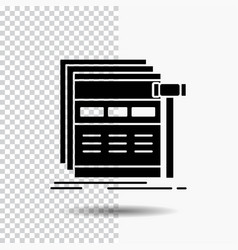 Internet page web webpage wireframe glyph icon on vector
