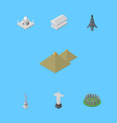 Isometric attraction set of england india mosque vector