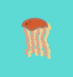 Jellyfish in sticker style vector