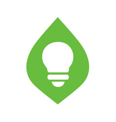 Leaf and lightbulb logo icon design eco lamp vector