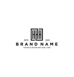 Letter hhh square logo design vector