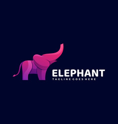 logo elephant gradient colorful style vector image