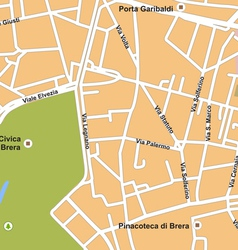 Milano city map vector