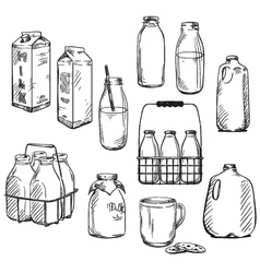 Milk vector image