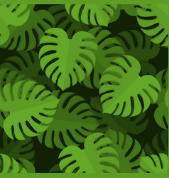 monstera seamless pattern tropical leaves vector image