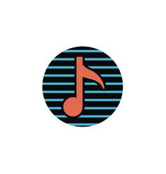 Music logo design vector