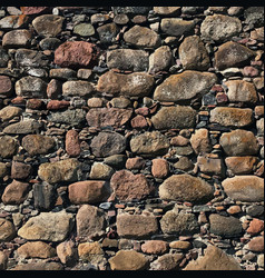 Old stone castle wall vector