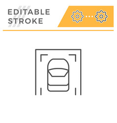 parking editable stroke line icon vector image