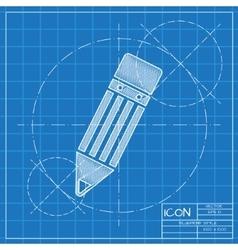 Pencil icon Eps10 vector