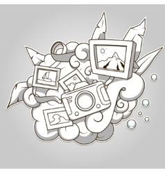 Photo abstraction colorless vector image