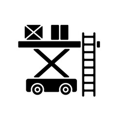 Ramp services black glyph icon vector