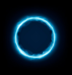 round frame with glowing and light neon vector image