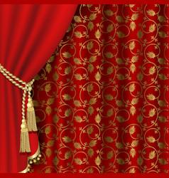 Royal curtain vector