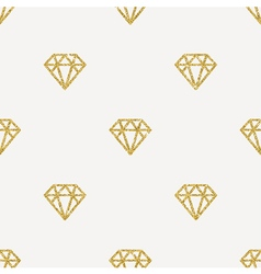 Seamless Background Glitter gold diamonds vector image