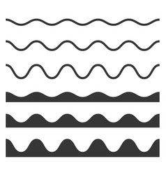 Seamless wave and zigzag pattern set on white vector
