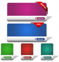 set of sale banner vector image