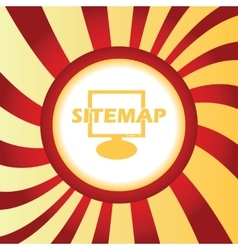 Sitemap abstract icon vector image