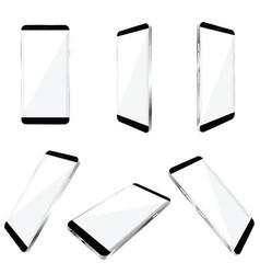 Smartphone realistic in white color set vector