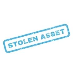 Stolen Asset Rubber Stamp vector