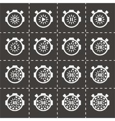 Stopwatch icon set vector image