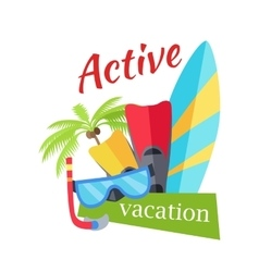 Summer Active Vacation Concept vector image