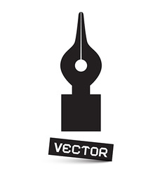 Symbol - Black Pen Icon Isolated on White vector image