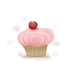 tasty cake vector image