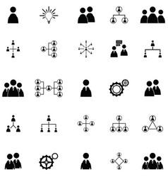 teamwork icon set vector image