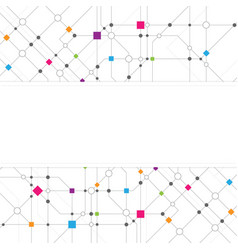 technical network abstract background vector image