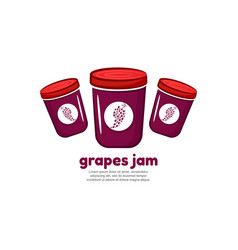 template logo for grapes jam vector image