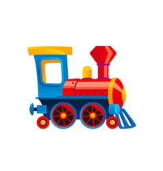 Toy train kids vector