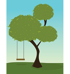 Tree with swing vector image