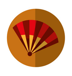 Typical fan spain icon vector
