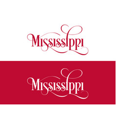 typography of the usa mississippi states vector image
