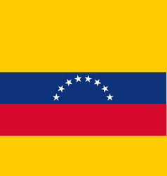 venezuela flag icon in flat style national sign vector image