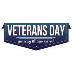 Veterans day banner design vector