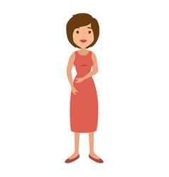 woman cartoon colorful vector image