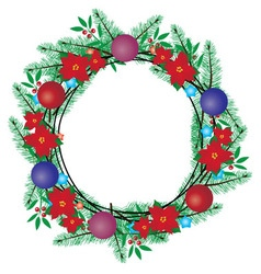 Wreath balls vector