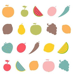 Abstract Fruits vector image vector image