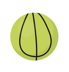 ball for tennis icon flat cartoon style vector image vector image