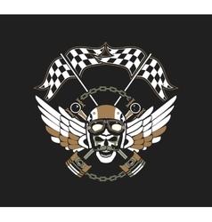 Biker Skull Emblem vector image