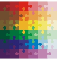 Color background jigsaw puzzle vector image vector image