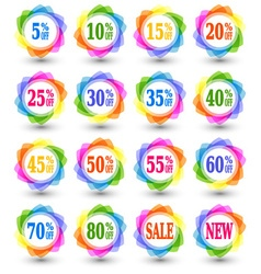 Sale discount percent icons vector image