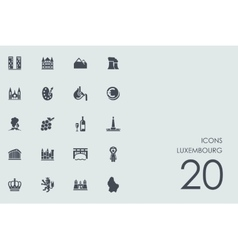 Set of Luxembourg icons vector image